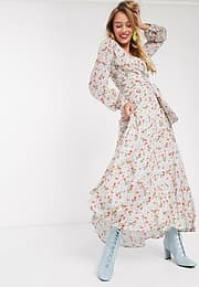 Essentiel Antwerp Vemale floral maxi dress in off white