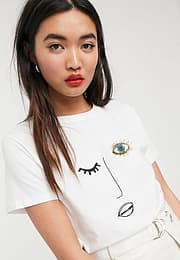 Soaked in Luxury fac e t-shirt-White