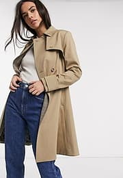 Ted Baker fitted trench coat in tan-Beige