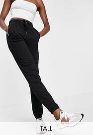Brave Soul Tall krista high waisted joggers-Black