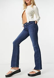Levi's 715 bootcut jeans in mid blue