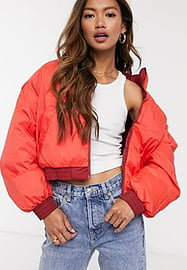 Levi's Lydia reversible puffer jacket in red
