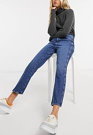 MiH Jeans M.i.h. Cult mid rise straight leg jeans in washed blue
