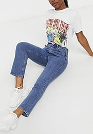 MiH Jeans MiH Daily crop jeans in midwash blue