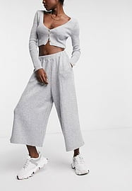Native Youth knitted culottes in grey