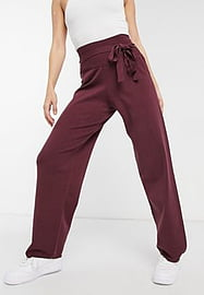 Native Youth knitted high waist trousers in burgundy-Red