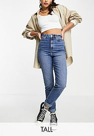 New Look Tall mom jeans in mid blue