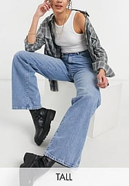 New Look Tall wide leg jeans in blue