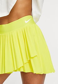 Nike Training Pleated Victory skirt in yellow