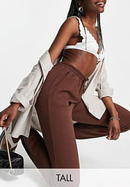 Parisian Tall co-ord joggers in chocolate brown