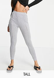Parisian Tall co-ord seam detail bodycon fit joggers in grey