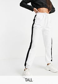 Parisian Tall jogger co-ord with stripes in white