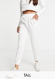 Parisian Tall textured joggers co-ord in white