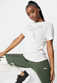Puma Training in t-shirt in white with logo