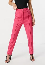 rare London tailored trouser co-ord in pink