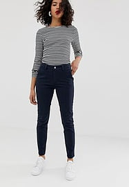 Selected Femme chino trouser-Navy
