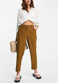 Y.A.S co-ord suit slim trousers in khaki moss-Green