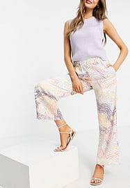 Y.A.S cropped trouser co-ord in animal print-Multi