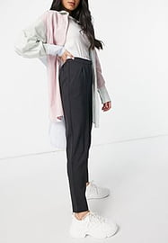 Y.A.S tailored trouser with elasticated waist in grey