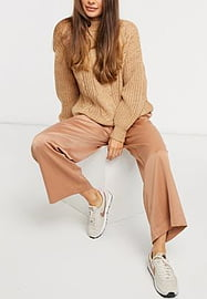Y.A.S tailored trousers co-ord in tan-Brown