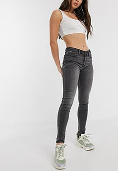 Abercrombie & Fitch jeans in grey-Black