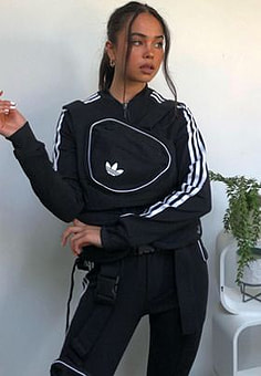 Adidas Ji Won Choi x Olivia track top with removable front pocket in black