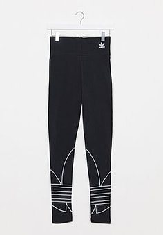 Adidas large trefoil leggings in black