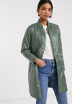b.Young b. Young coat with gathered waist-Green