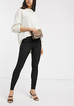 b.Young b. Young high waisted trousers-Black