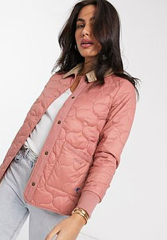 Barbour Hallie quilted jacket in dusty pink