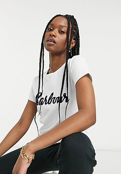 Barbour Rebecca t shirt in white