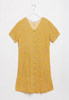 Blend She button down smock dress in yellow floral