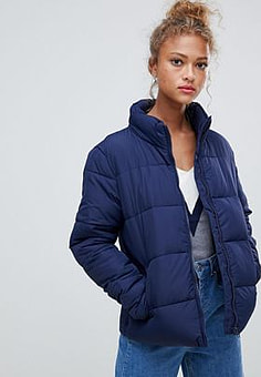 Blend She Dales tube quilted short jacket-Navy