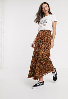 Blend She skirt in leopard-Multi