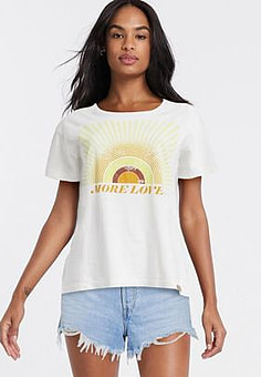 Blend She sunshine slogan t-shirt-White