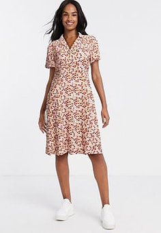 Blend She wrap dress in pink ditsy
