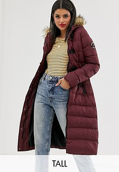 Brave Soul wizard long padded coat-Red