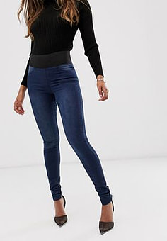 b.Young elasticated waist jeggings-Blue