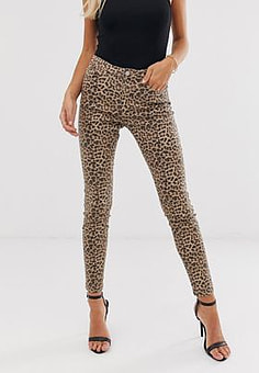 b.Young leopard print jeans-Multi