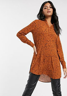b.Young printed open neck shirt-Multi
