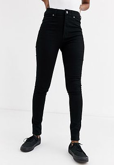 Cheap Monday High Spray skinny jeans-Black
