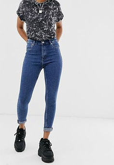 Cheap Monday High Spray skinny jeans-Blue