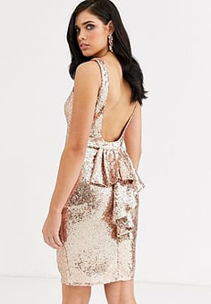 City Goddess halterneck midi sequin dress-White