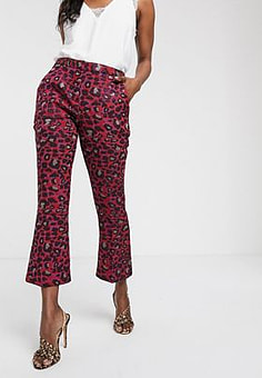 Closet  bootcut cropped trousers-Multi