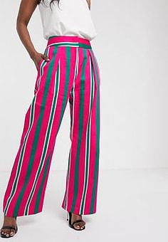 Closet  wide leg pleated trousers-Multi