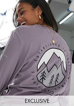 Columbia Cades Cove long sleeve t-shirt in purple