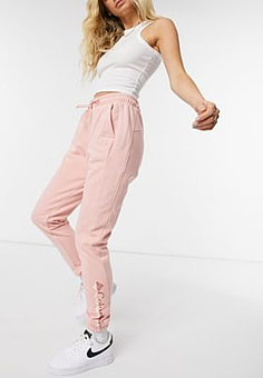 Columbia Logo French Terry joggers in pink