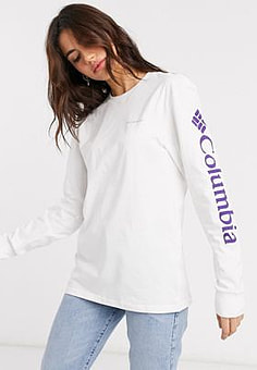 Columbia North cascades long sleeve t-shirt in white