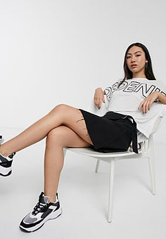 Dr Denim Daly Denim Skirt in black