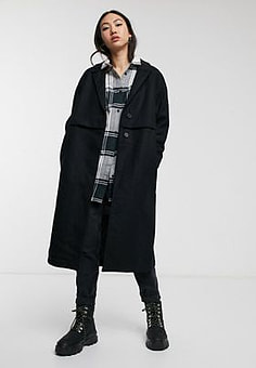 Dr Denim Debbie Coat in black